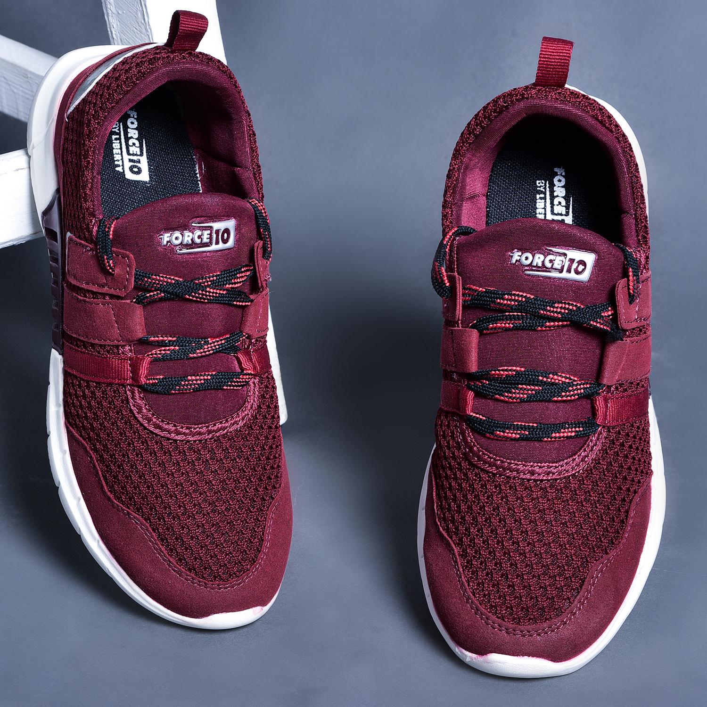 Liberty | Liberty Force 10 Sport Shoes SAMOA-1E_Cherry For - Ladies