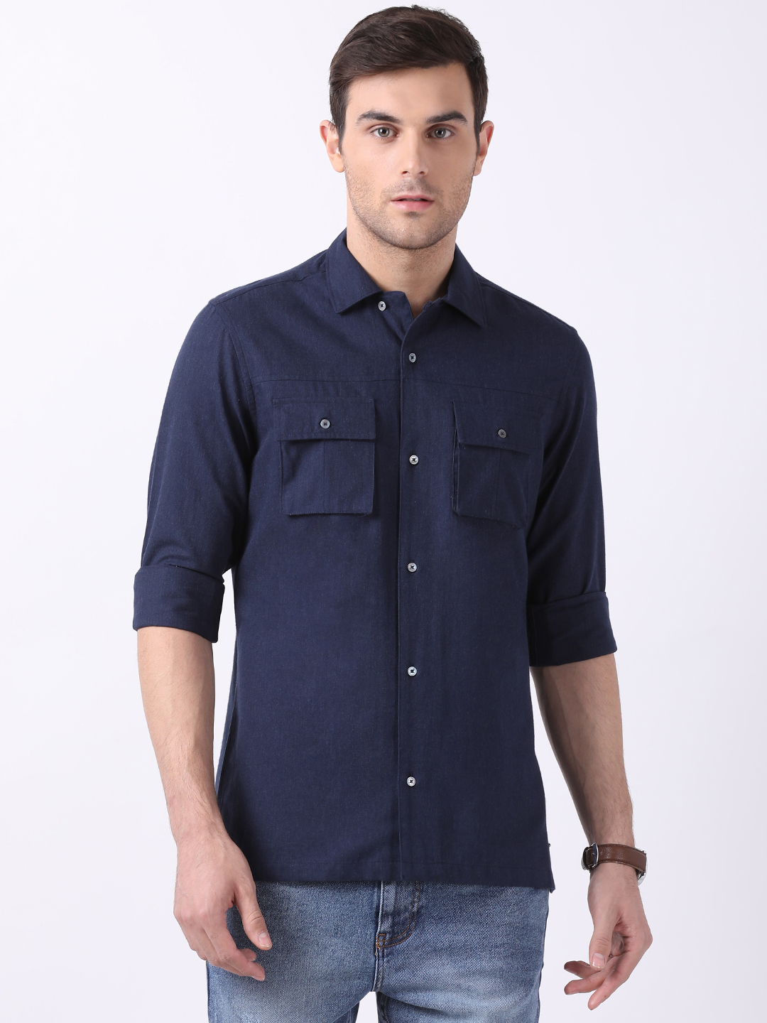 The Bear House | TBH Camp-Collar Brushed Flannel Shirt