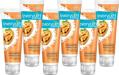 Everyuth Naturals   Everyuth Naturals Exfoliating Walnut Scrub Remove Blackheads & Dead Skin Cells (Pack of 6)