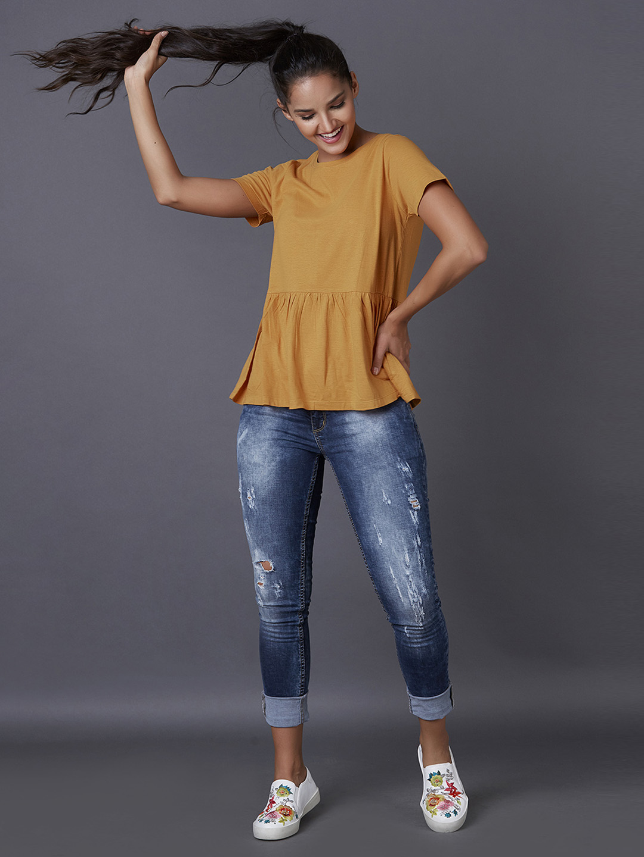 MARCA DISATI | Peplum-Style T-Shirt