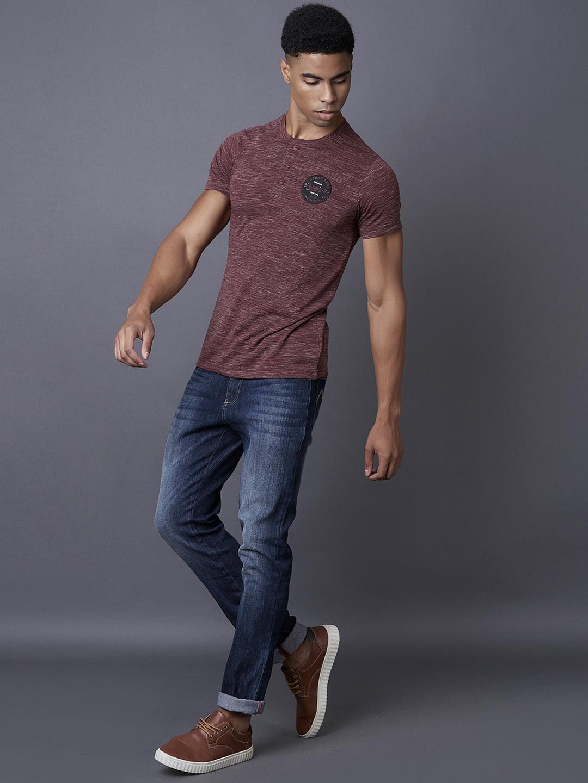 MARCA DISATI | Maroon Melange T-Shirt