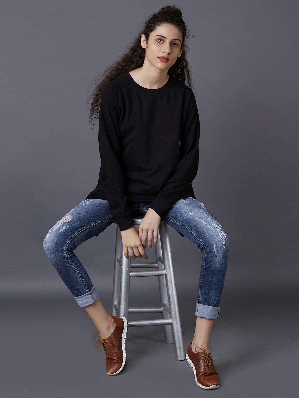 MARCA DISATI | Black Solid Sweatshirt