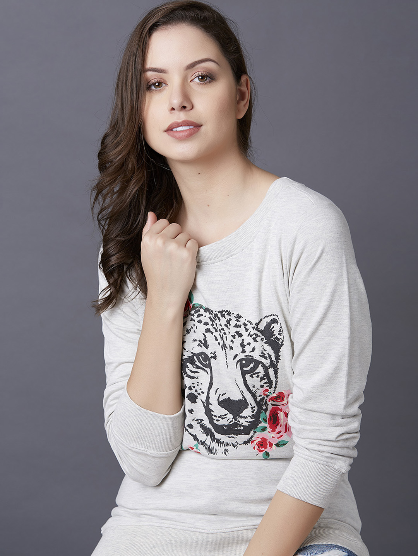 MARCA DISATI | Leopard Print Graphic Sweatshirt