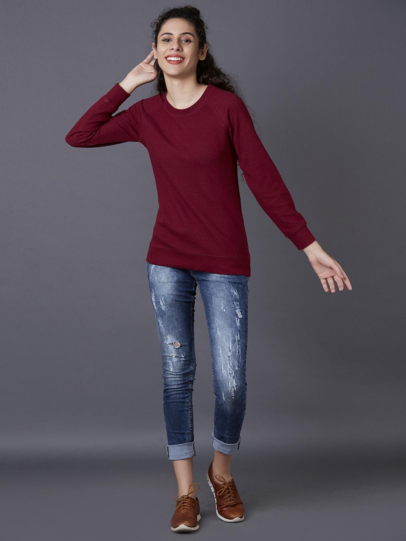 MARCA DISATI | Jacquard Textured Sweatshirt