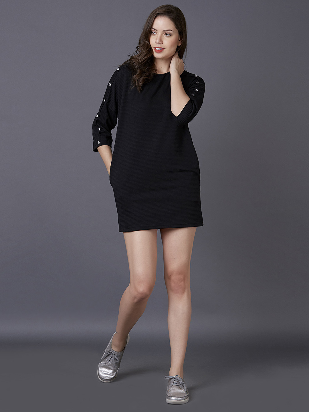 MARCA DISATI   Knitted Solid Short Dress