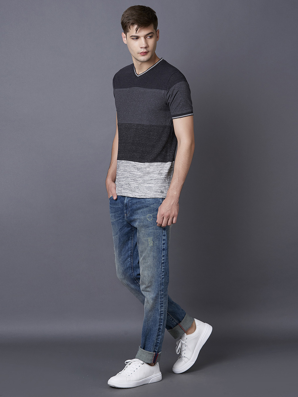MARCA DISATI   Black Striped T-Shirt