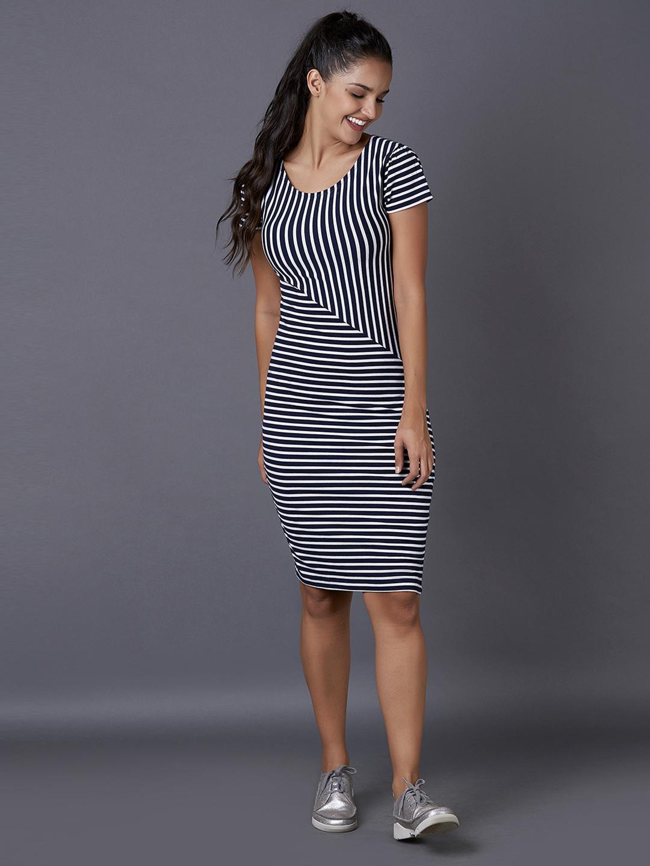 MARCA DISATI | Striped Knee-Length Knitted dress