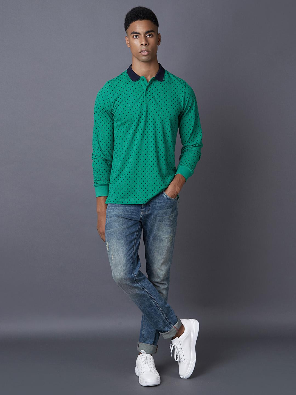 MARCA DISATI | Emerald Printed Polo T-Shirt