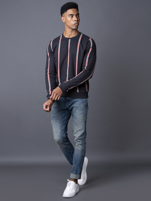 MARCA DISATI | Black Striped Sweatshirt