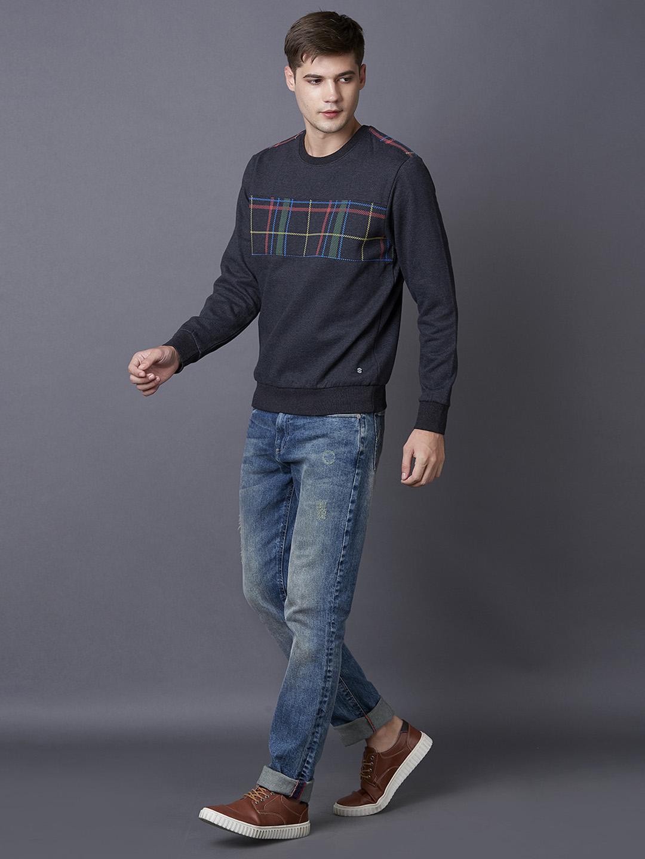 MARCA DISATI   Black Checked Sweatshirt