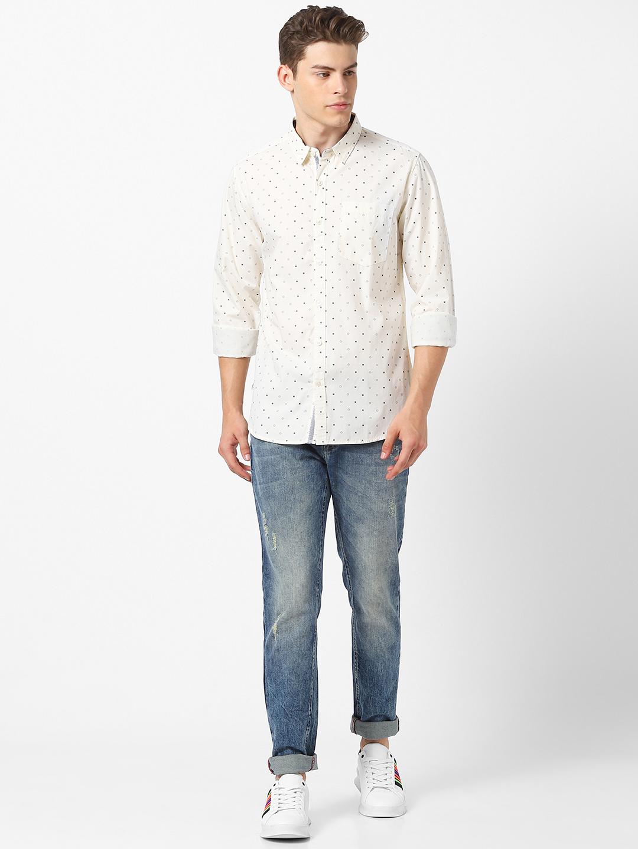 MARCA DISATI   Slim Fit Regular Collar Printed Shirt