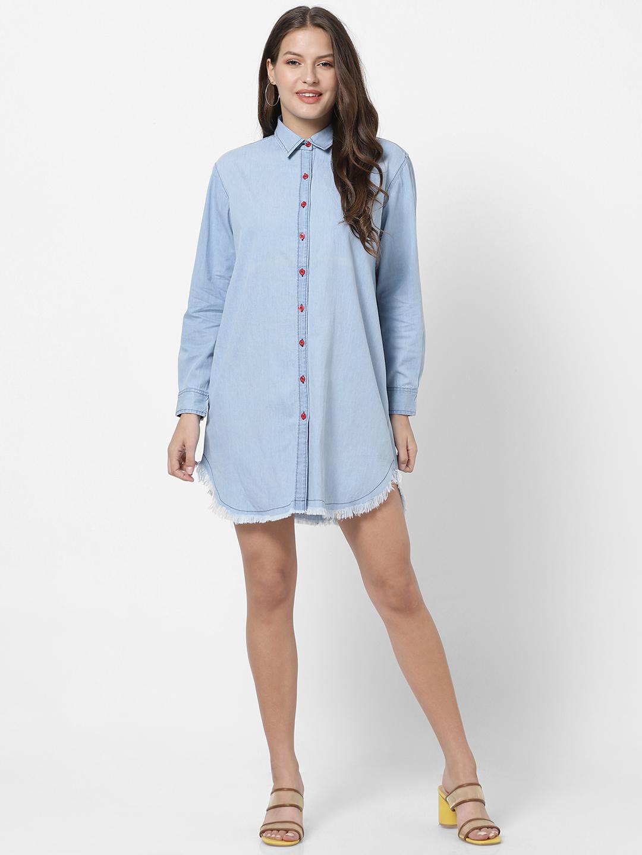 MARCA DISATI   Full Sleeves Denim Shirt Dress