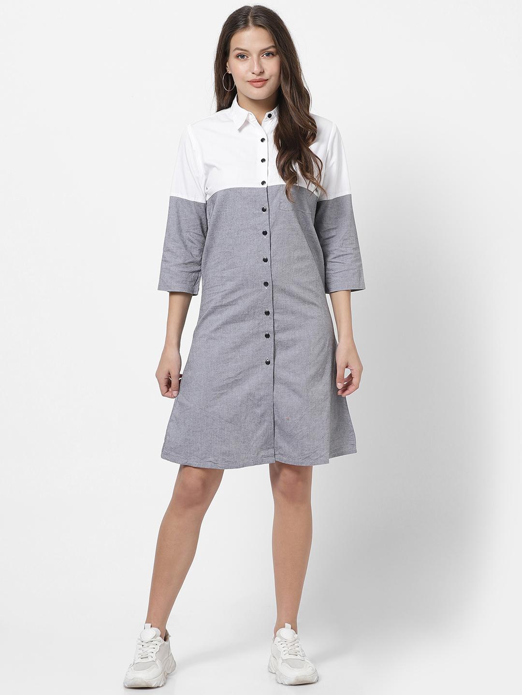 MARCA DISATI   Short Length Colour Blocked Shirtdress