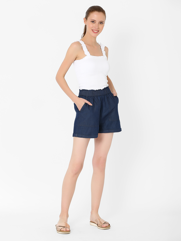 MARCA DISATI | Slip-On Flared Denim Shorts