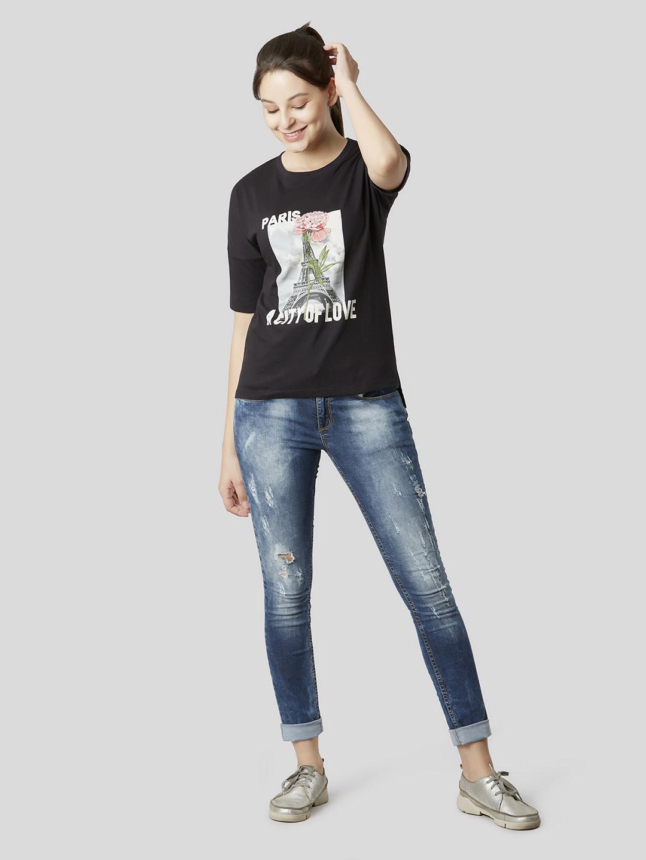 MARCA DISATI | Graphic Embellished Boxy T-Shirt
