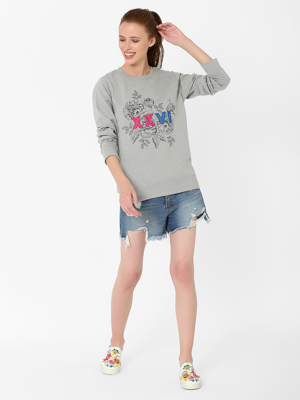 MARCA DISATI | Floral Embroidery Sweatshirt