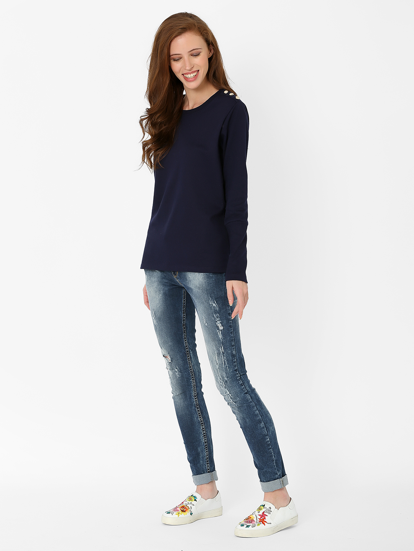 MARCA DISATI   Ribbed Sleeve Sweatshirt