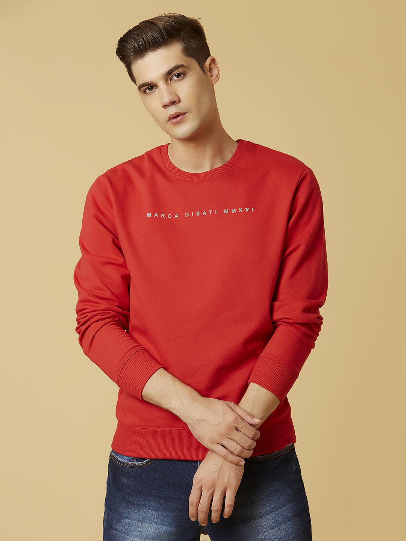 MARCA DISATI | Round Neck Soild Colour Sweatshirt