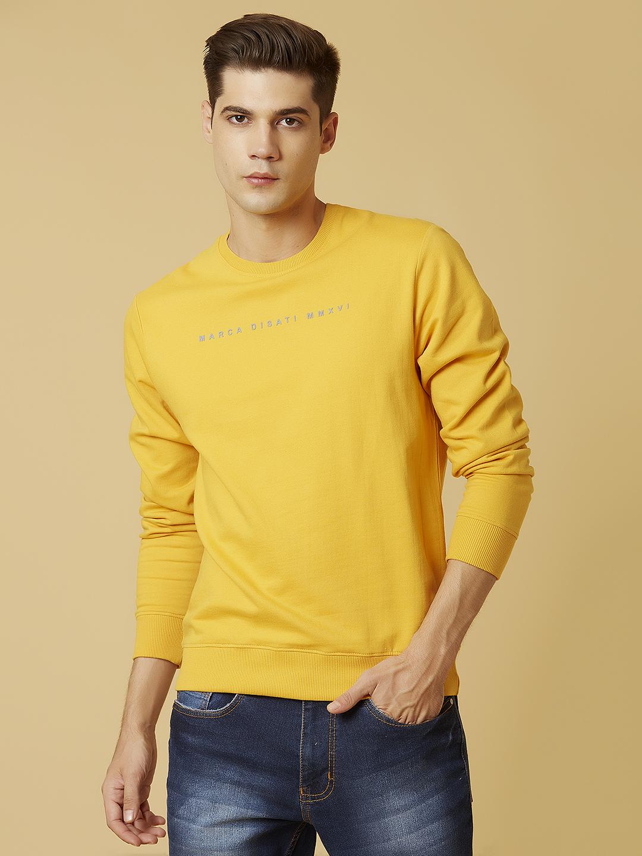 MARCA DISATI   Round Neck Soild Colour Sweatshirt
