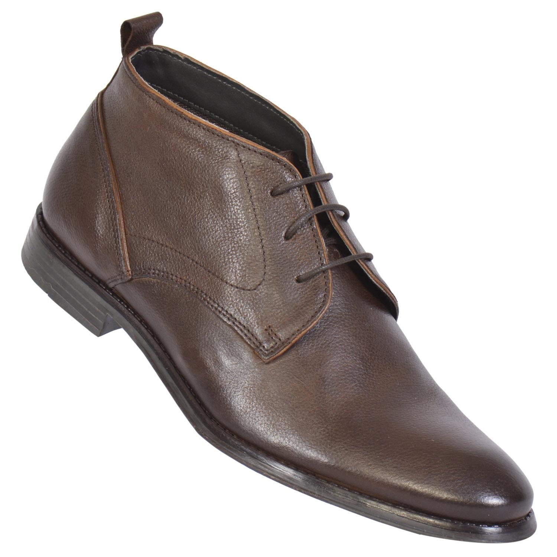 MASABIH | MASABIH Genuine Leather Men's Brown Chukka Boots