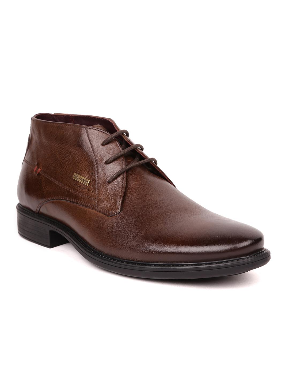MASABIH   Masabih Genuine Leather Tan Chukka Boots