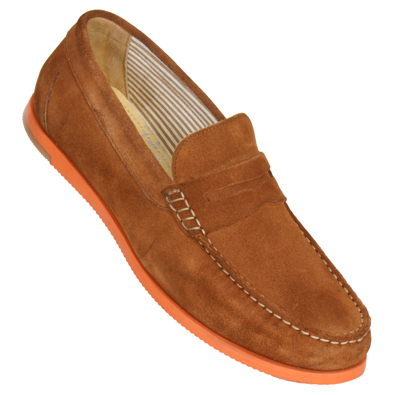 MASABIH | MASABIH Genuine Leather Men's Tan Loafers
