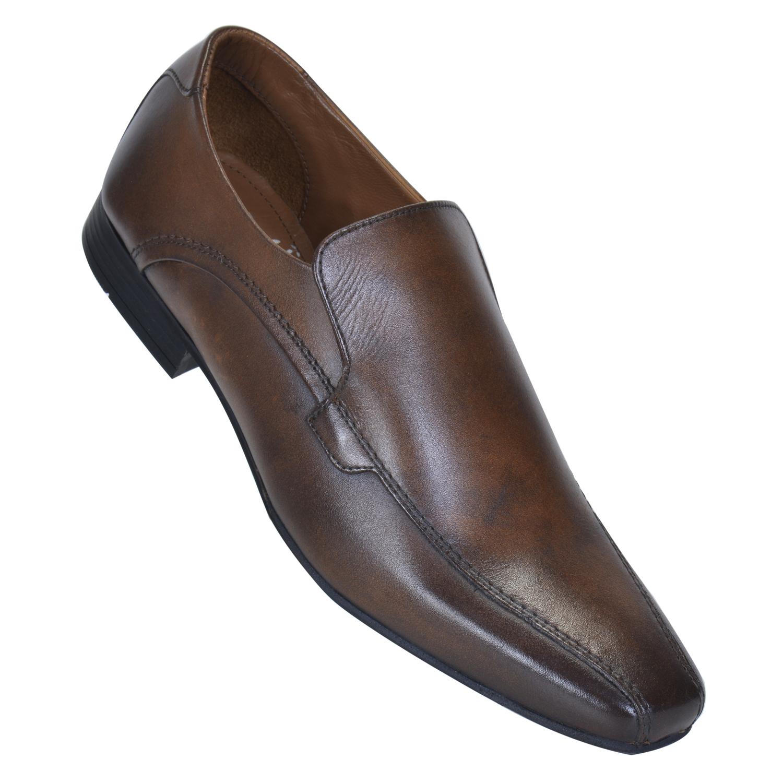 MASABIH | MASABIH Genuine Leather Men's Tan Slip Ons