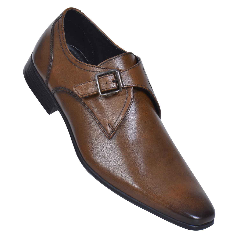 MASABIH | MASABIH Genuine Leather Men's Tan Lace-Up Formals