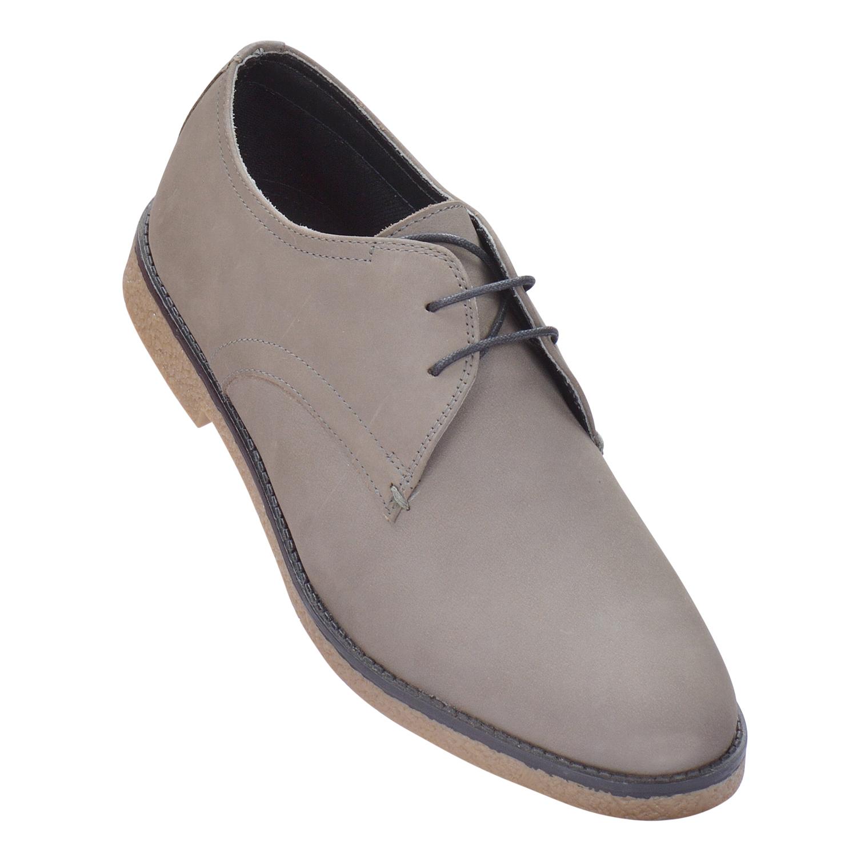 MASABIH   MASABIH Genuine Leather Men's Grey Lace-Up Formals