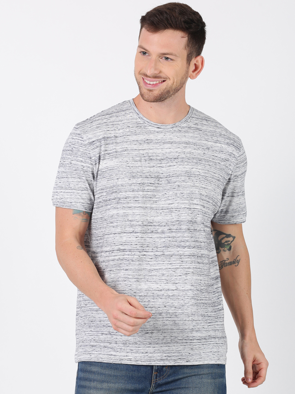 UrGear | UrGear Self Design Men Round Neck Grey T-Shirt