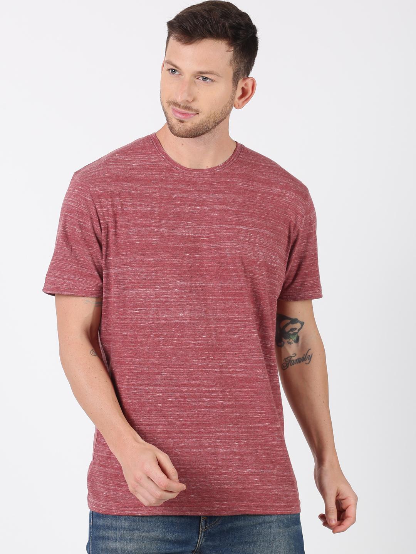 UrGear | UrGear Solid Men Round Neck Pink T-Shirt