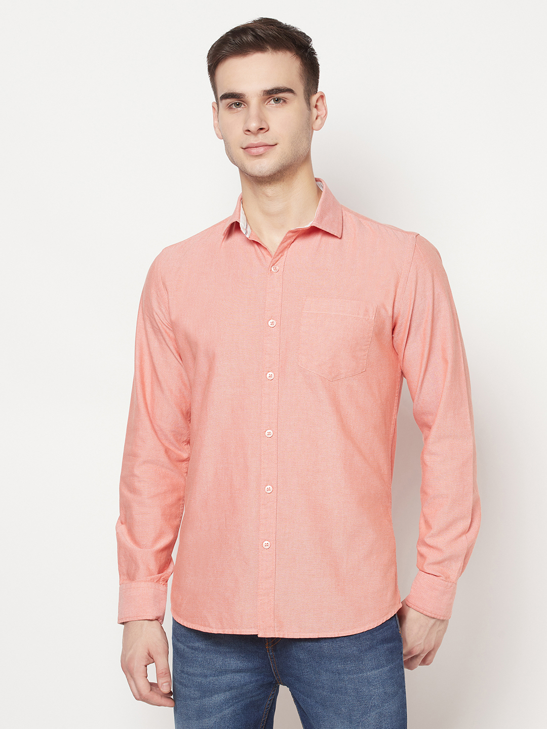 METTLE   Men MIAMI RED Casual Shirts