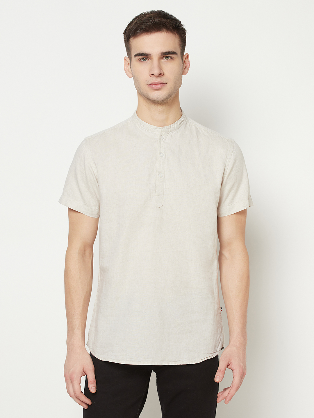 METTLE   Men NATURAL Casual Shirts
