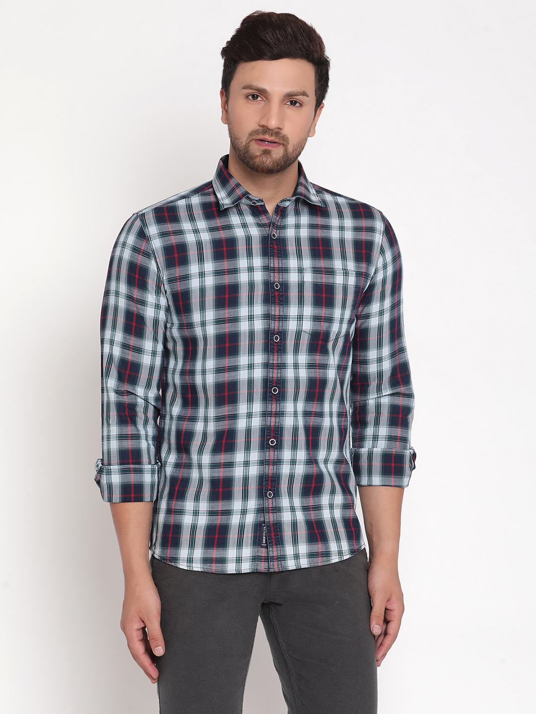 METTLE | Men INDIGO SALSA Casual Shirts