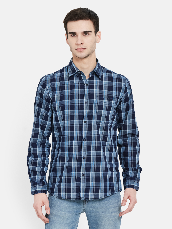 METTLE | Men ROYAL INDIGO Casual Shirts
