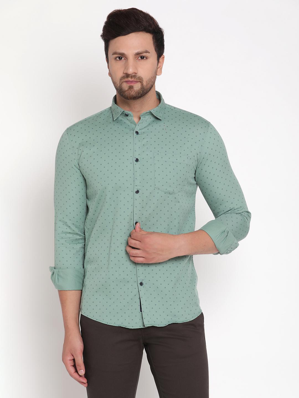 METTLE   Men FERN Casual Shirts