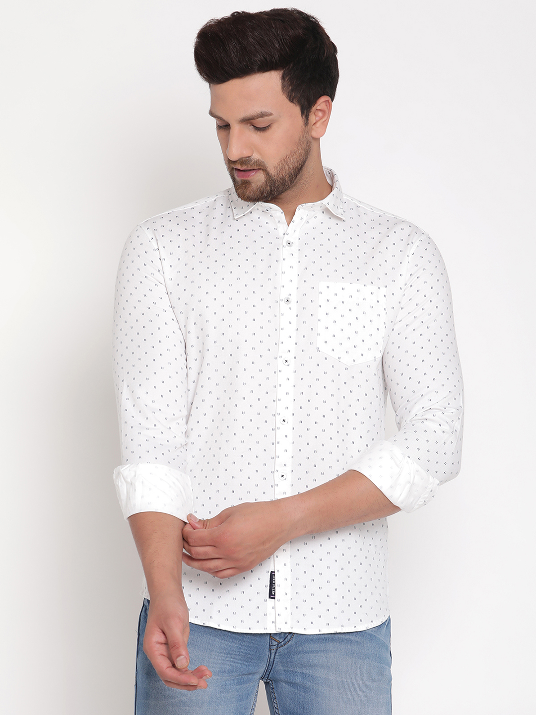 METTLE   Men WHITE Casual Shirts