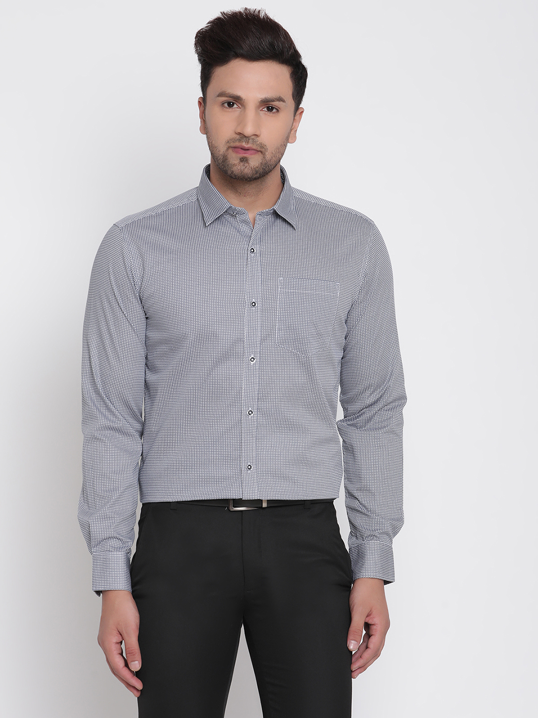 METTLE | Men NAVY Casual Shirts