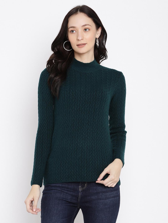 METTLE | Women MOUNTAIN GREEN Sweaters
