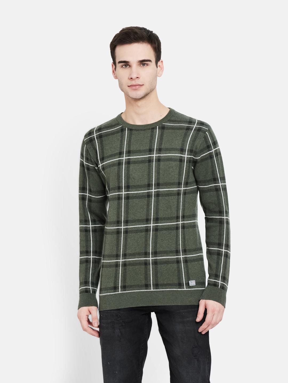 METTLE | Men OLIVE MELANGE Sweaters