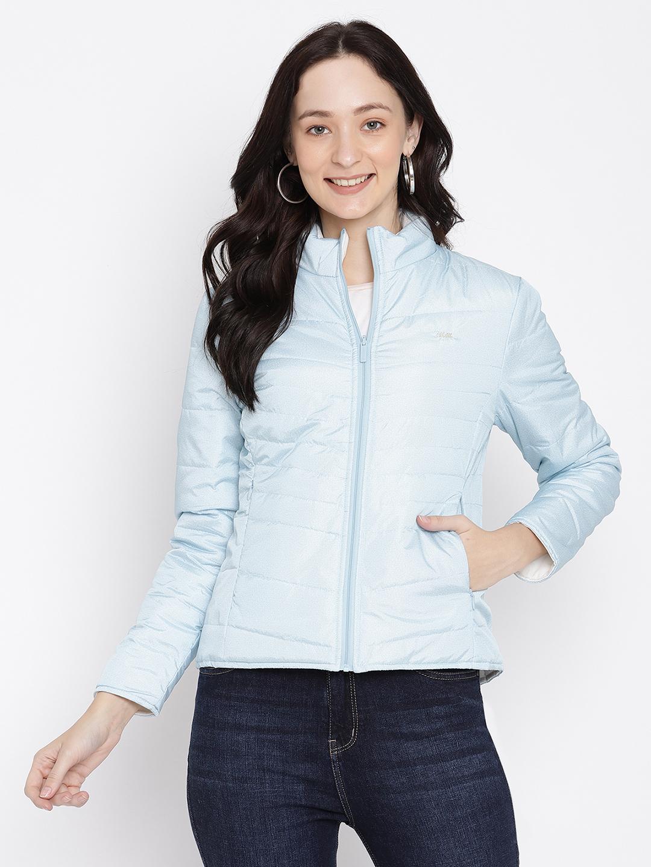 METTLE | Women ICE BLUE Front Open Jackets