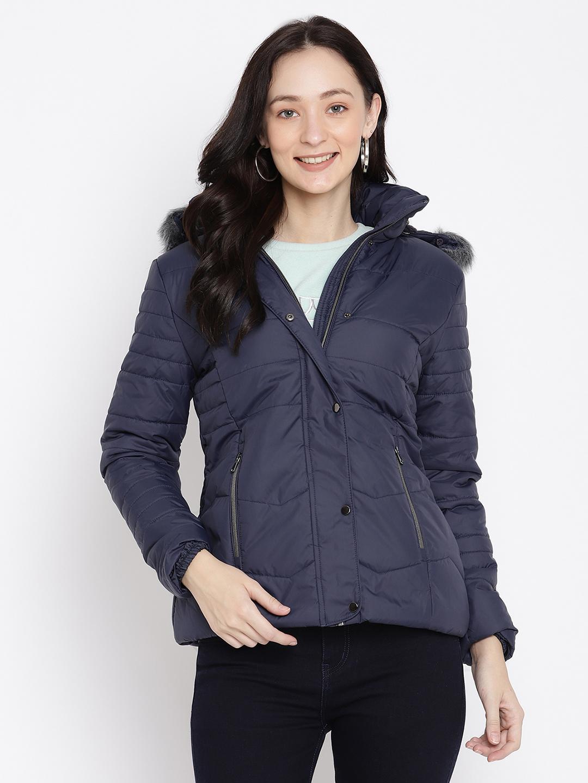 METTLE | Women NAVY Front Open Jackets