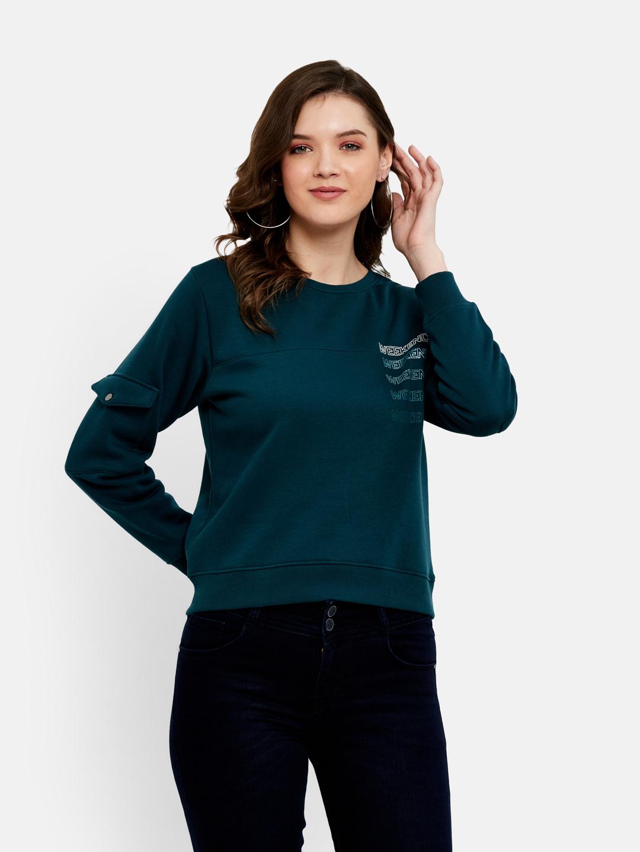 METTLE   Women TEAL Sweatshirts