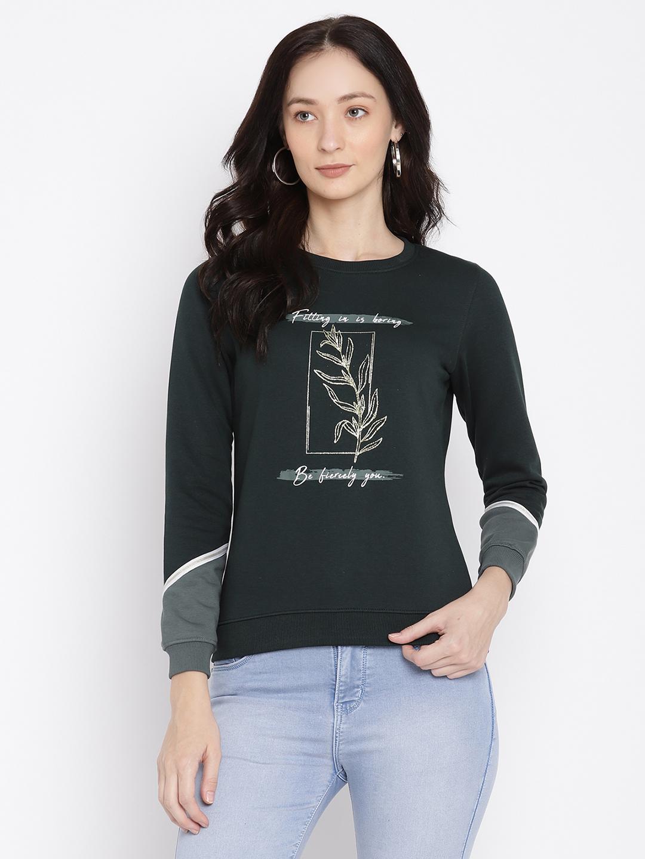 METTLE   Women MOUNTAIN GREEN Sweatshirts