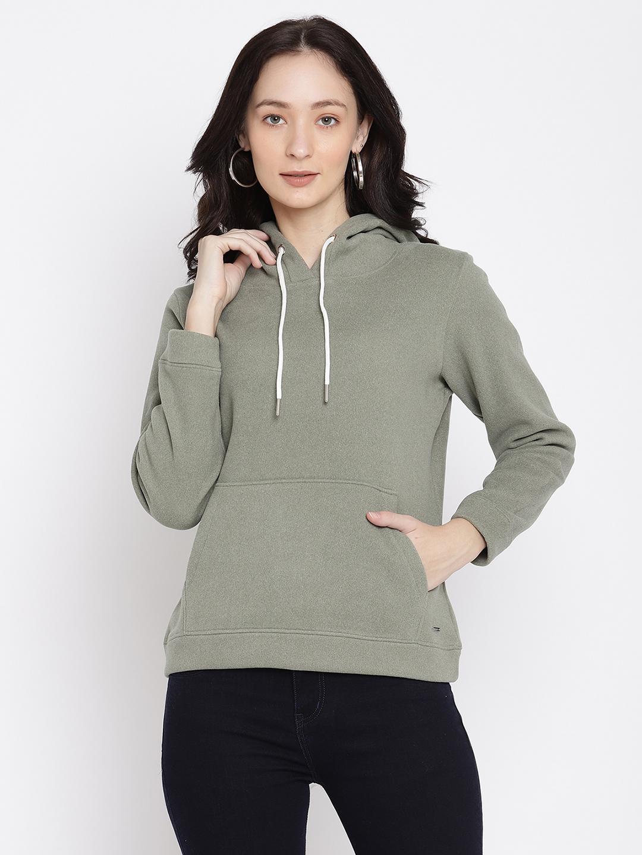 METTLE   Women BASIL MELANGE Sweatshirts