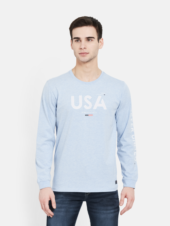 METTLE | Men SKY MELANGE T-Shirts