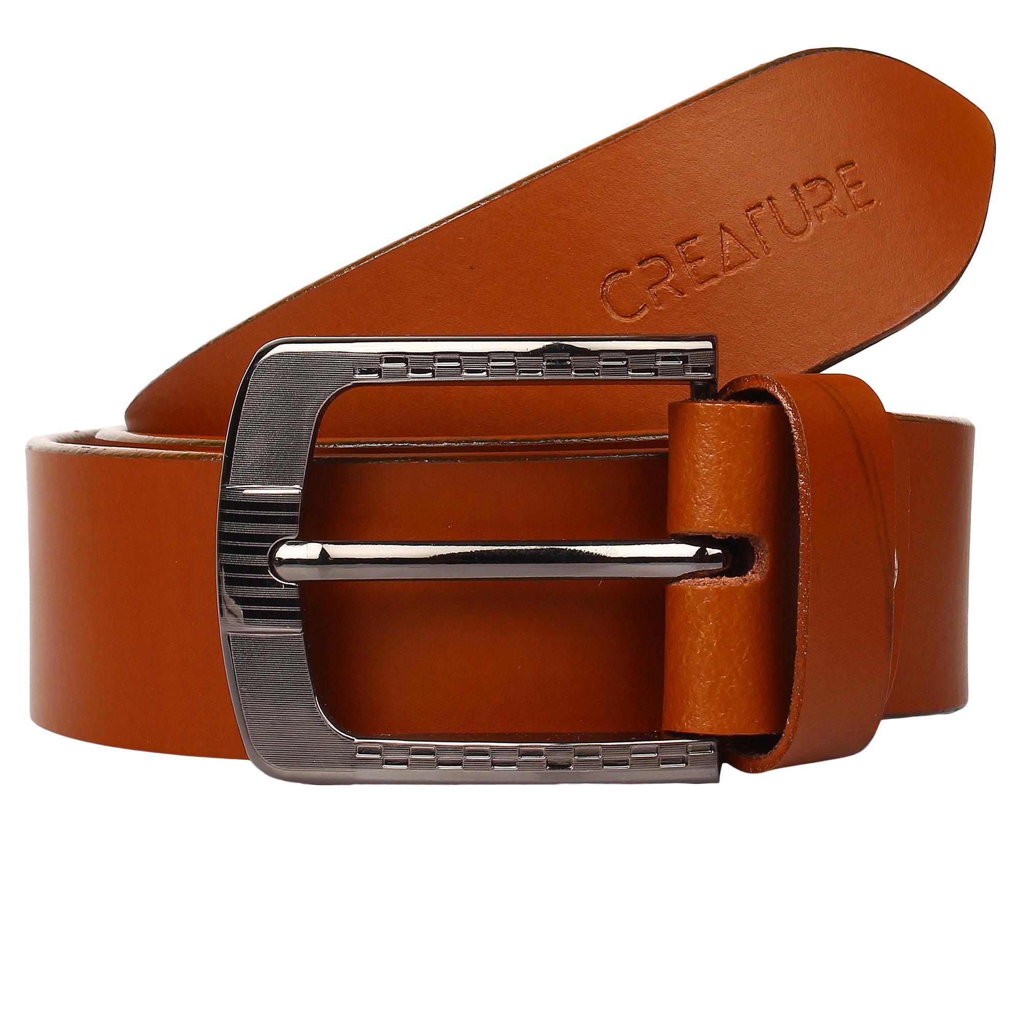 CREATURE | CREATURE Formal/Casual Tan Colour Genuine Leather Tan Belt for Men