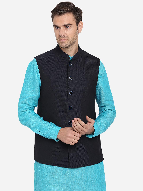Modi Jacket   MJK070/1-BLUE BLACK TEXTURED