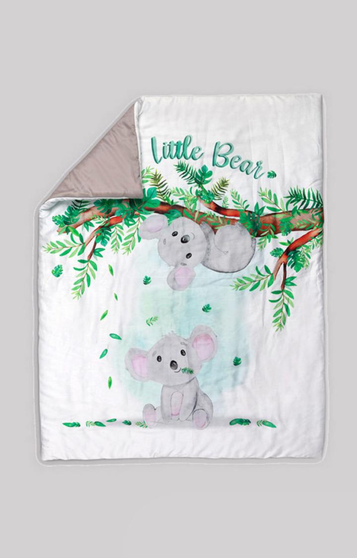 Mothercare | White Fancy Fluff Organic Toddler Comforter - Koala