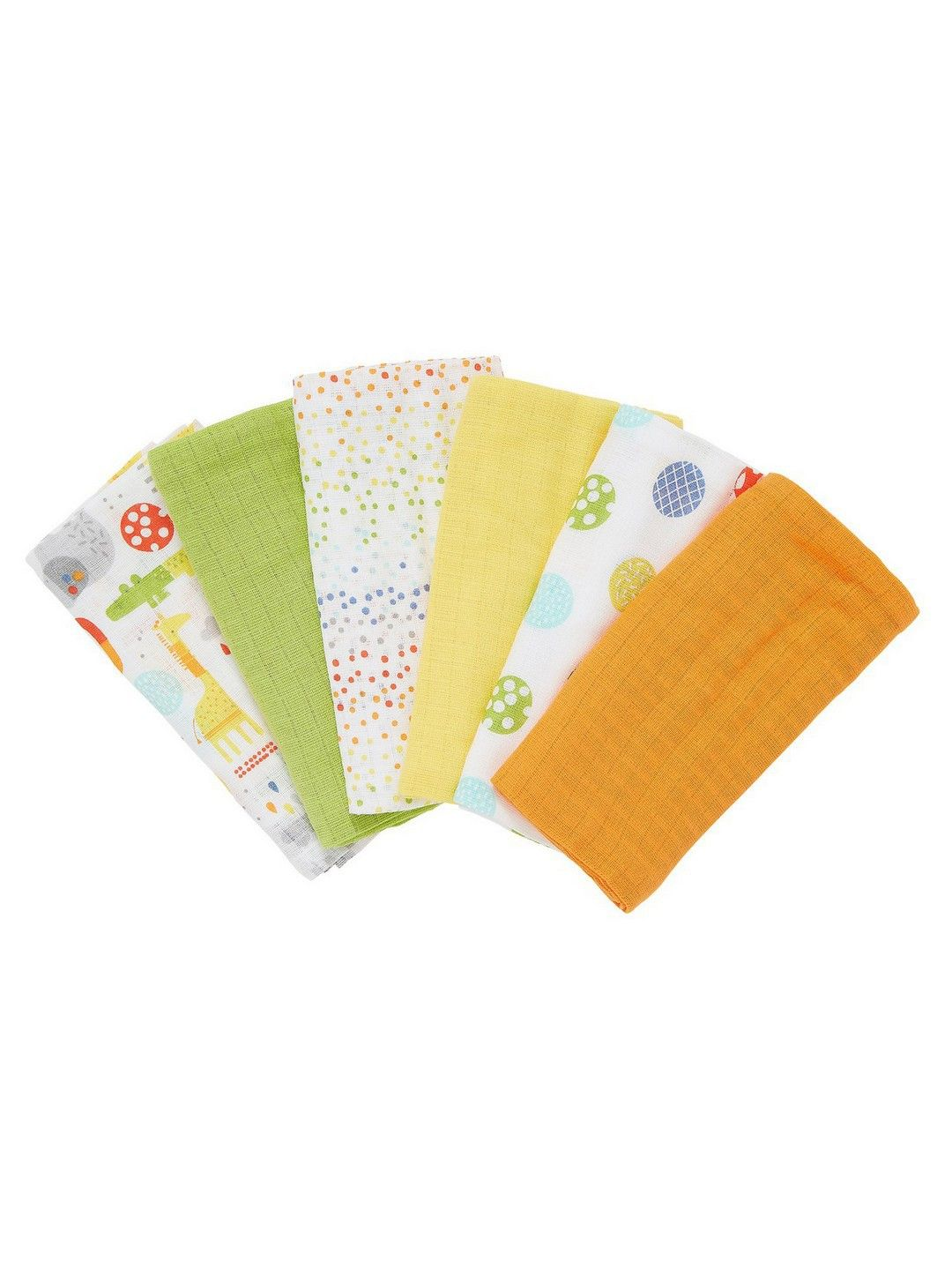 Mothercare | Hello Friend Muslins - Pack of 6